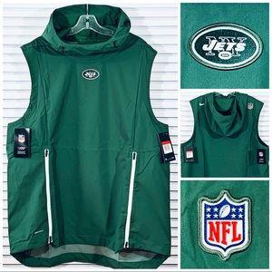 Nike New York Jets Sideline Fly Rush Hoodie Vest